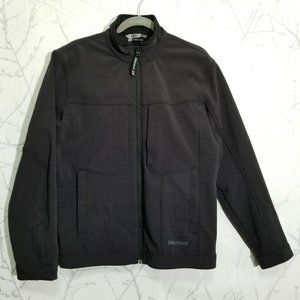 Marmot Black Soft Shell Full Zip Jacket